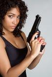 Gewehr-Frau stockbild