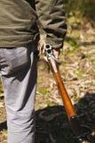 Gewehr geöffnet Stockfoto