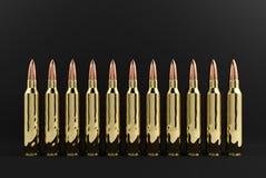 Gewehr-Gewehrkugeln Lizenzfreie Stockbilder