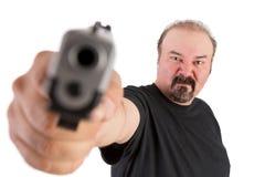 Gewehr gezeigt auf Sie Lizenzfreie Stockfotos