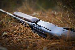 Gewehr im Gras Lizenzfreies Stockfoto