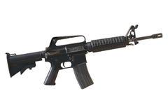 Gewehr im weißen Hintergrund Lizenzfreies Stockfoto
