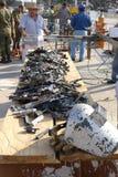 Gewehr-Kauf zurück programmieren Stockfoto