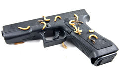 Gewehr mit Insekten Stockfotografie
