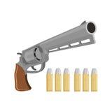 Gewehr mit silbernen Kugeln Revolver für Vampirsjäger Exterminat Lizenzfreie Stockbilder