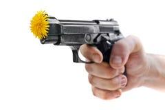 Gewehr u. Blumen Lizenzfreie Stockbilder