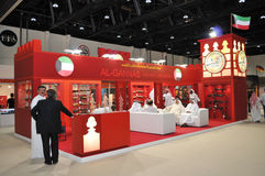 Gewehr u. Munition an Abu Dhabi International Hunting und an Reiterausstellung 2013 Lizenzfreie Stockfotos