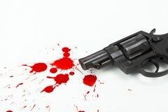 Gewehr und Blut Lizenzfreies Stockfoto