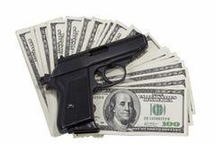 Gewehr und Geld stockbilder