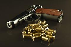 Gewehr und Gewehrkugeln Lizenzfreies Stockbild