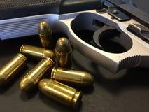 Gewehr und Gewehrkugeln Stockfotos