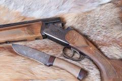 Gewehr und Messer Lizenzfreies Stockfoto