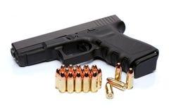 Gewehr und Munition Stockbilder