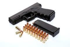 Gewehr und Munition Stockbild