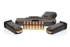 Gewehr und Munition Stockfoto