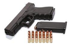 Gewehr und Munition Stockfotografie