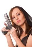 Gewehr und Schönheit Stockbild