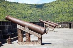 Gewehre im Hafen, Mauritius Lizenzfreies Stockfoto