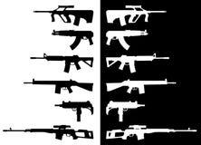 Gewehre u. Submachineguns lizenzfreie abbildung