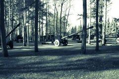 Gewehre und militärische Ausrüstung Lizenzfreies Stockfoto