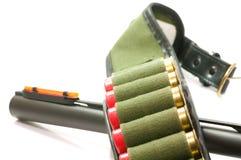 Gewehrfaß und -gurt Stockbild