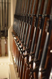Gewehrgestell auf Militärschiff Stockbilder