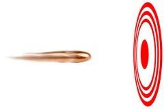 Gewehrkugel-Bullauge Lizenzfreies Stockbild