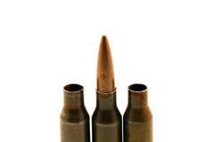 Gewehrkugel in der Mitte Stockfoto