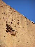 Gewehrkugel schädigende Wand Stockfotografie