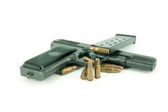 Gewehrkugel und Gewehr Stockbild