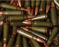 Gewehrkugelhintergrund zwei Stockfotos