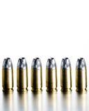 Gewehrkugeln 9mm kontrastreich Stockfotos