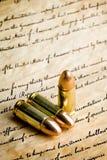 Gewehrkugeln - das Recht, Arme zu tragen Stockbilder