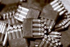 Gewehrkugeln in den Klipps Lizenzfreies Stockbild