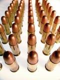 Gewehrkugeln in einer Reihe Stockfotografie