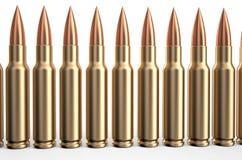 Gewehrkugeln in einer Reihe Lizenzfreie Stockbilder