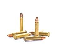 Gewehrkugeln getrennt Stockfoto