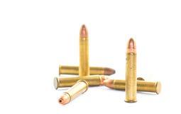 Gewehrkugeln getrennt Lizenzfreie Stockfotografie