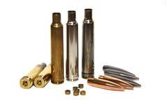 Gewehrkugeln, Kassetten und Perkussionsschutzkappen Lizenzfreie Stockfotografie