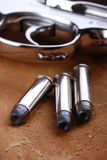 Gewehrkugeln mit Gewehr Lizenzfreie Stockbilder