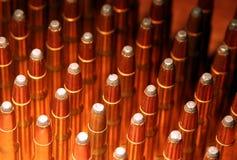 Gewehrkugeln schließen oben Stockfotografie