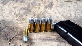 Gewehrkugeln und Gewehr Stockbilder
