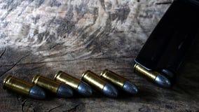 Gewehrkugeln und Gewehr Lizenzfreie Stockfotografie