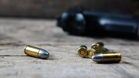 Gewehrkugeln und Gewehr Lizenzfreies Stockfoto