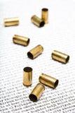 Gewehrkugelshells über dem Irak Lizenzfreies Stockfoto