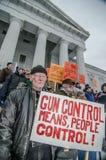 Gewehrrechte sammeln Montpelier Vermont. Lizenzfreies Stockfoto