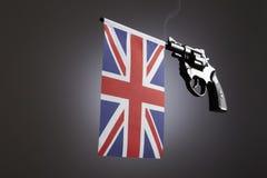 Gewehrverbrechenkonzept der Handpistole stockbilder