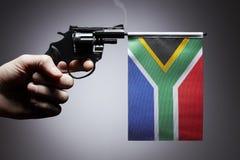 Gewehrverbrechenkonzept der Handpistole stockbild
