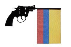 Gewehrverbrechenkonzept der Handpistole lizenzfreies stockbild