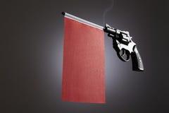 Gewehrverbrechenkonzept der Handpistole lizenzfreie stockfotografie